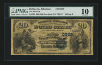 DeQueen, AR - $20 1882 Date Back Fr. 555 The First NB Ch. # (S)5929