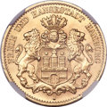German States:Hamburg, German States: Hamburg. Free City gold 10 Mark 1912J,...