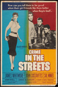 """Movie Posters:Crime, Crime in the Streets (Allied Artists, 1956). Poster (40"""" X 60"""").Crime.. ..."""