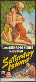 "Movie Posters:Adventure, Saturday Island (RKO, 1952). Australian Daybill (13"" X 30"").Adventure.. ..."