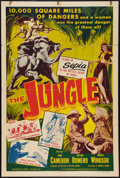 "Movie Posters:Adventure, The Jungle (Lippert, 1952). One Sheet (27"" X 41""). Adventure.. ..."
