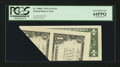 Error Notes:Foldovers, Fr. 1908-C $1 1974 Federal Reserve Note. PCGS Very Choice New64PPQ.. ...
