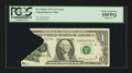 Error Notes:Printed Tears, Fr. 1910-E $1 1977A Federal Reserve Note. PCGS Choice About New 55PPQ.. ...