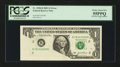 Error Notes:Foldovers, Fr. 1928-B $1 2003 Federal Reserve Note. PCGS Choice About New55PPQ.. ...