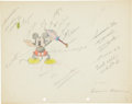 Animation Art:Production Drawing, Mickey's Garden Animation Production Drawing Original Art (Disney, 1935)....