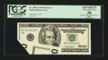 Error Notes:Foldovers, Fr. 2085-D $20 1999 Federal Reserve Note. PCGS Apparent ChoiceAbout New 58.. ...