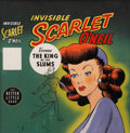 Original Comic Art:Covers, Big Little Book Invisible Scarlet O'Neil Versus The King of theSlums #1406 Cover Original Art (Whitman, 1947)...