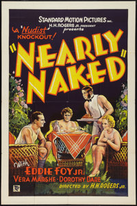 "Nearly Naked (Standard, 1933). One Sheet (27"" X 41"") and Press Sheet (11"" X 17""). Exploitation..."
