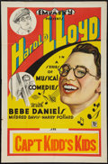 """Movie Posters:Comedy, Harold Lloyd Stock (Embassy, R-Early 1930s). One Sheet (27"""" X 41"""").""""Captain Kidd's Kids."""" Comedy.. ..."""