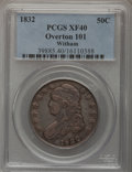 Bust Half Dollars: , 1832 50C Large Letters XF40 PCGS. O-101. Ex: Witham Collcetion.PCGS Population (9/108). (#6161)...