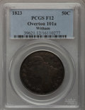 Bust Half Dollars, 1823 50C Patched 3 Fine 12 PCGS. Ex: Witham Collection. O-101a. .PCGS Population (1/54). NGC Census: (0/39). Numismedia W...