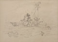 Animation Art:Production Drawing, Mickey's Man Friday Animation Drawing Original Art Group (Disney, 1935)....