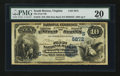 National Bank Notes:Virginia, South Boston, VA - $10 1882 Date Back Fr. 545 The First NB Ch. #(S)5872. ...