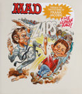 Original Comic Art:Covers, Jack Davis Mad Zaps The Human Race and Other Horrors Through theTwisted Mind of Frank Jacobs Paperback Cover Orig...