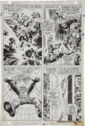 Original Comic Art:Panel Pages, Jack Kirby and Syd Shores Captain America #101 Red Skullpage 15 Original Art (Marvel, 1968)....