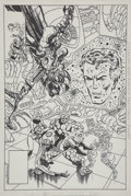 Original Comic Art:Covers, John Byrne Fantastic Four #255 Cover Original Art (Marvel,1983)....