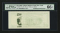 Error Notes:Blank Reverse (<100%), Fr. 2083-B $20 1996 Federal Reserve Note. PMG Gem Uncirculated 66EPQ.. ...