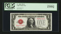 Small Size:Legal Tender Notes, Low Serial Number Fr. 1500 $1 1928 Legal Tender Note. PCGS Superb Gem New 67PPQ.. ...