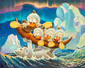 Original Comic Art:Paintings, Carl Barks Luck of the North Oil Painting Original Art(1973)....