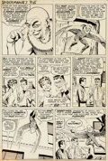 Original Comic Art:Panel Pages, Steve Ditko Amazing Spider-Man #7 Vulture page 12 OriginalArt (Marvel, 1963)....