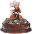 Memorabilia:Disney, Uncle Scrooge The Expert Limited Edition Figurine Signed by Carl Barks #24/25 (Another Rainbow, undated)....