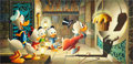 Original Comic Art:Paintings, Carl Barks Golden Fleece Oil Painting Original Art(1972)....
