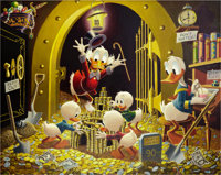 Carl Barks Time Wasters Oil Painting Original Art (1975)