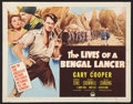 "Movie Posters:Adventure, The Lives of a Bengal Lancer (Paramount, R-1950). Half Sheet (22"" X28"") Style A. Adventure.. ..."