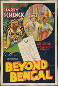 "Movie Posters:Adventure, Beyond Bengal (Showmens Pictures, 1934). One Sheet (27"" X 40.5"")Style A. Adventure.. ..."