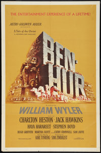 "Ben-Hur (MGM, 1959). One Sheet (27"" X 41""). Academy Award Winners"