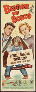 "Movie Posters:Comedy, Bedtime for Bonzo (Universal International, 1951). Insert (14"" X36""). Comedy.. ..."