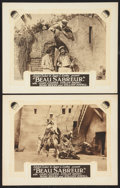 "Movie Posters:Adventure, Beau Sabreur (Paramount, 1928). International Lobby Cards (2) (11""X 14""). Adventure.. ... (Total: 2 Items)"