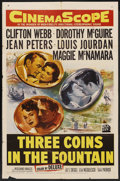 """Movie Posters:Romance, Three Coins in the Fountain (20th Century Fox, 1954). One Sheet (27"""" X 41""""). Romance. ..."""