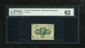 Fractional Currency:First Issue, Fr. 1240 10c First Issue PMG Uncirculated 62....