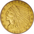 Proof Indian Quarter Eagles, 1909 $2 1/2 PR63 PCGS....