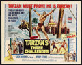 "Movie Posters:Adventure, Tarzan's Three Challenges (MGM, 1963). Half Sheet (22"" X 28"").Adventure. ..."