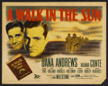 "Movie Posters:War, A Walk in the Sun (20th Century Fox, 1946). Half Sheet (22"" X 28"").War. Starring Dana Andrews, Richard Conte, George Tyne, ..."