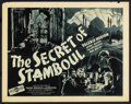 "Movie Posters:Adventure, The Secret of Stamboul (J.H. Hoffberg Co., 1936). Half Sheet (22"" X28""). Adventure. ..."