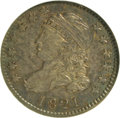 Bust Dimes, 1821 10C Large Date AU53 NGC. NGC Census: (5/140). PCGS Population(5/100). Mintage: 1,186,512. Numismedia Wsl. Price for N...