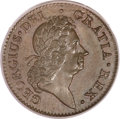 Colonials, 1722 1/2P Hibernia Halfpenny, Type One, Harp Left MS64 Brown PCGS.CAC. Martin 4.4-Be.1, R.5....