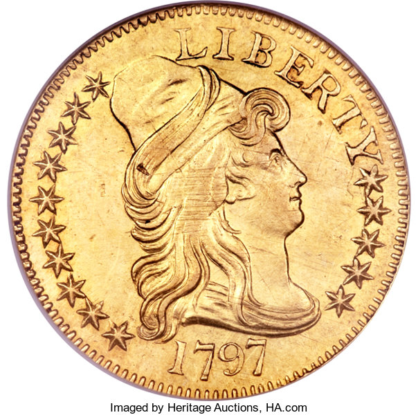 Numisbids Herie World Coin Auctions Dallas Signature Us 1265 Lot 4107 Early Half Eagles 1798 5 Large Eagle 8 13 Stars Reverse