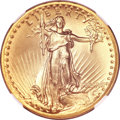 High Relief Double Eagles, 1907 $20 High Relief, Wire Rim MS67 NGC....