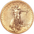 High Relief Double Eagles, 1907 $20 High Relief, Wire Rim AU55 NGC....