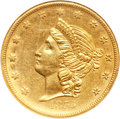 Territorial Gold, 1855 $20 Kellogg & Co. Twenty Dollar AU58 NGC. Medium Arrows, K-3a, R.6....