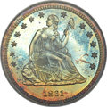 Proof Seated Quarters, 1861 25C PR67 NGC....