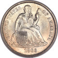 Seated Dimes, 1866-S 10C MS65 NGC. Fortin-101, R.4. ...