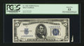 Error Notes:Major Errors, Fr. 1652 $5 1934B Silver Certificate. PCGS About New 53.. ...