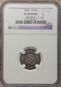 Early Half Dimes: , 1800 H10C --Repaired--NGC Details. VF. NGC Census: (2/131). PCGSPopulation (17/184). Mintage: 40,000. Numismedia Wsl. Price...