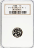 Proof Roosevelt Dimes, 1963 10C Doubled Die Reverse PR67 W NGC. FS-017.5. PCGS Population(9/3). (#5224)...