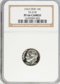 Proof Roosevelt Dimes: , 1963 10C Doubled Die PR66 Cameo NGC. FS-018. PCGS Population (1/2).(#85224)...